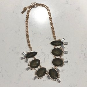 Gray statement necklace